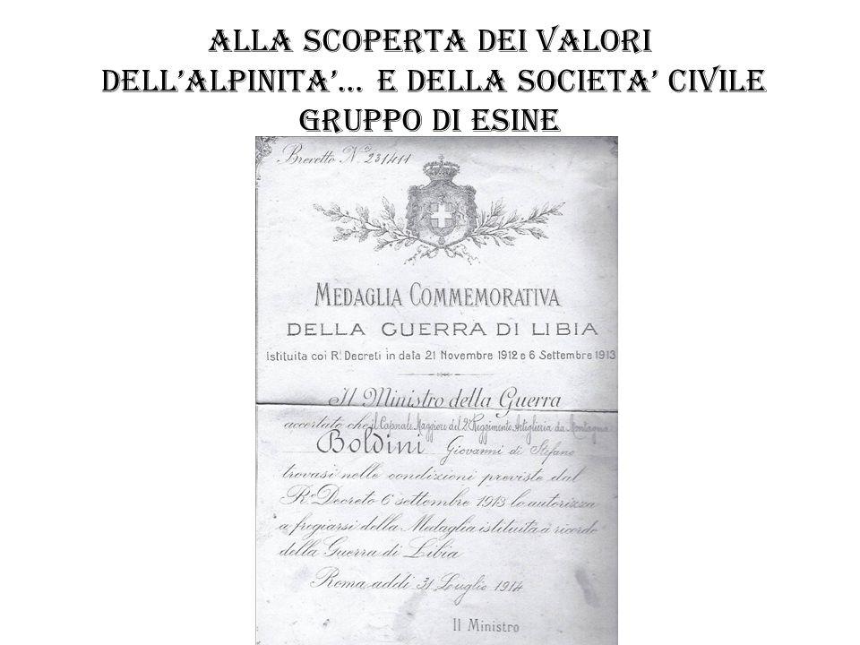 ALLA SCOPERTA DEI VALORI DELLALPINITA… E DELLA SOCIETA CIVILE gruppo di prestine