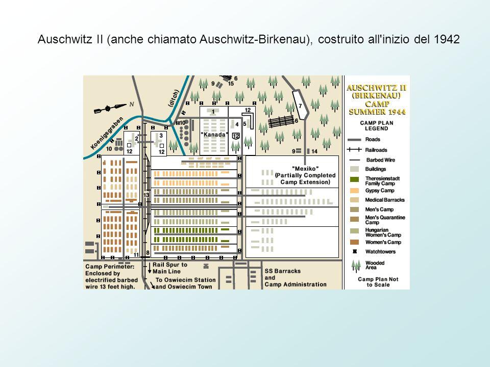 Auschwitz II (anche chiamato Auschwitz-Birkenau), costruito all inizio del 1942