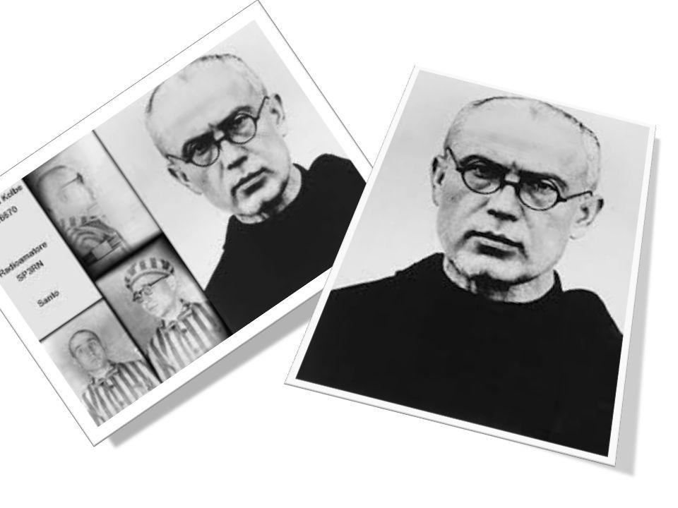 San Massimiliano Kolbe, frate francescano, imprigionato ad Auschwitz, dove si sacrificò prendendo il posto di un prigioniero condannato a morire di fa