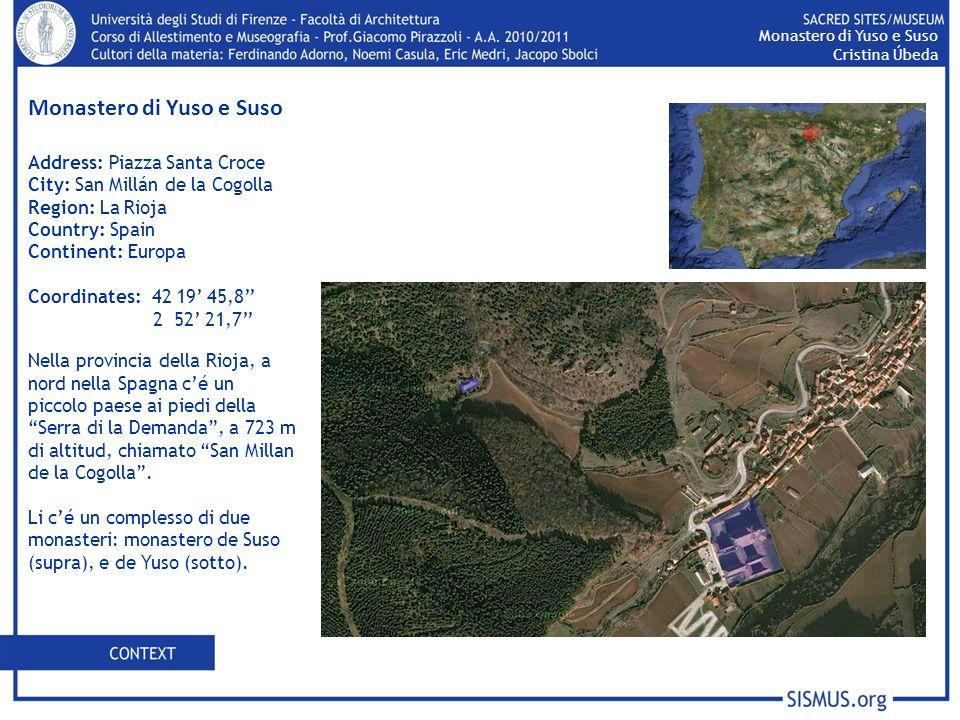 Address: Piazza Santa Croce City: San Millán de la Cogolla Region: La Rioja Country: Spain Continent: Europa Coordinates: 42 19 45,8 2 52 21,7 Nella p