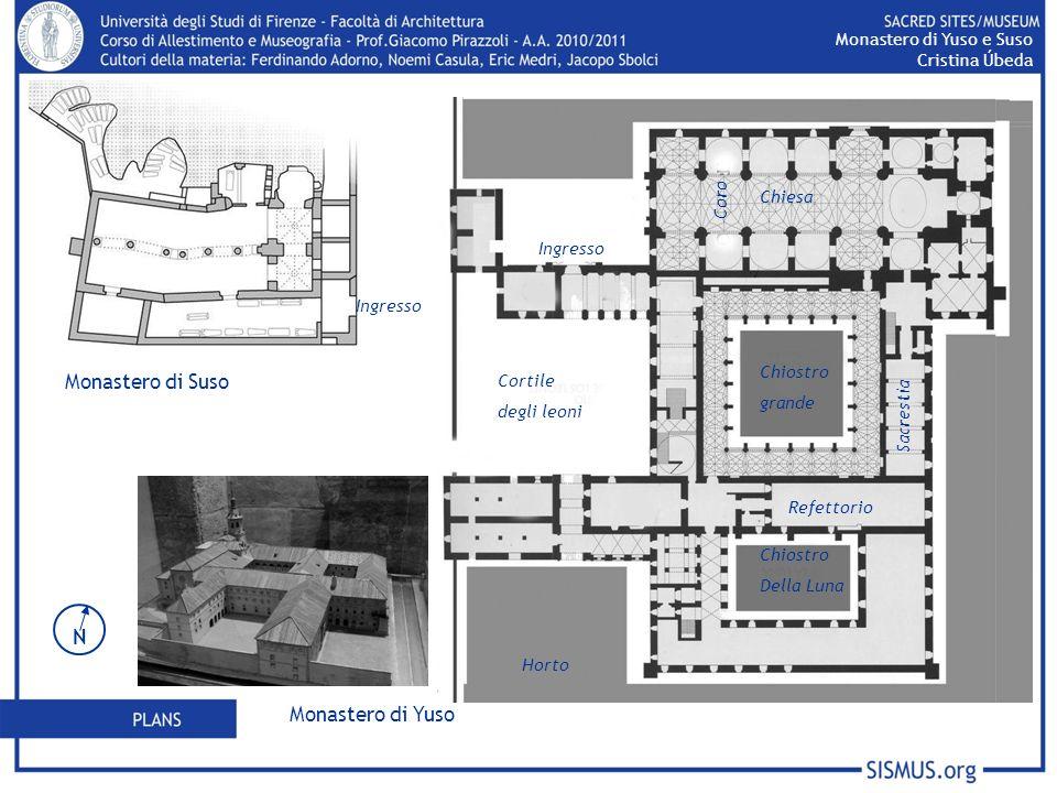 Monastero di Suso Monastero di Yuso Monastero di Yuso e Suso Cristina Úbeda N Ingresso Chiostro grande Chiesa Chiostro Della Luna Sacrestia Coro Refet