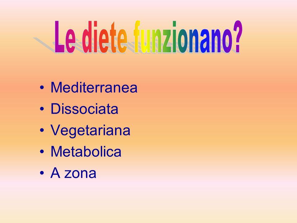 Mediterranea Dissociata Vegetariana Metabolica A zona