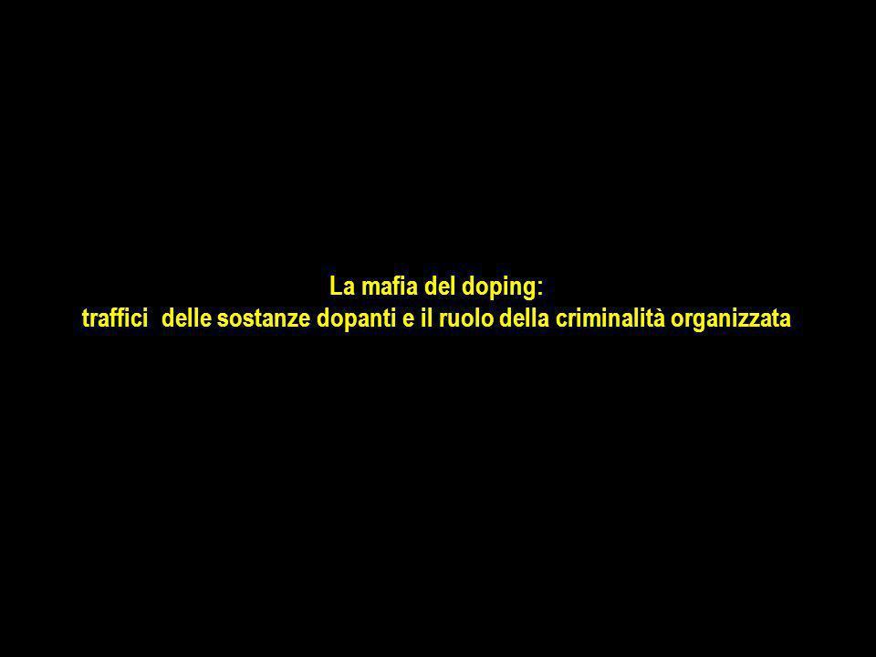 La mafia del doping: traffici delle sostanze dopanti e il ruolo della criminalità organizzata