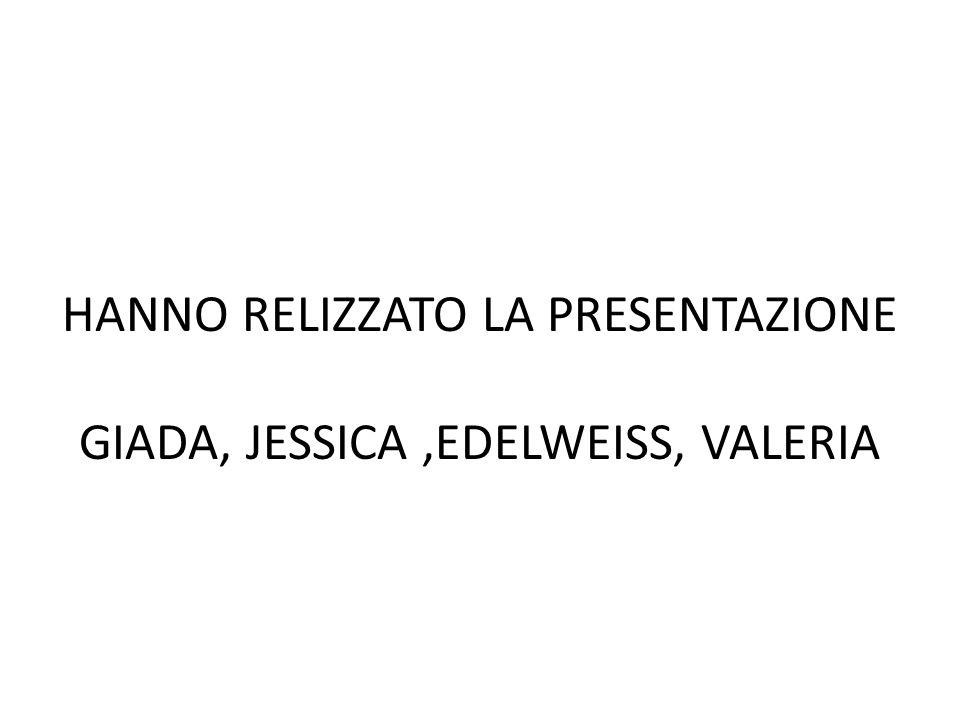HANNO RELIZZATO LA PRESENTAZIONE GIADA, JESSICA,EDELWEISS, VALERIA