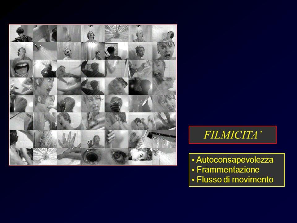 Psycho-doccia Autoconsapevolezza Frammentazione Flusso di movimento FILMICITA