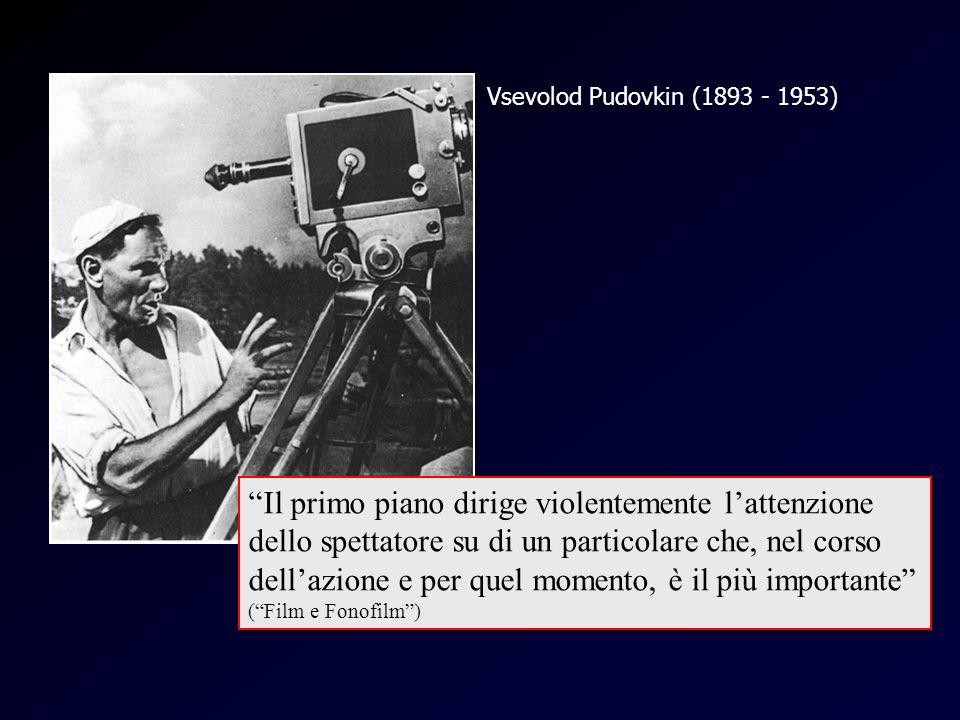 Vsevolod Pudovkin (1893 - 1953) Pudovki n Il primo piano dirige violentemente lattenzione dello spettatore su di un particolare che, nel corso dellazi