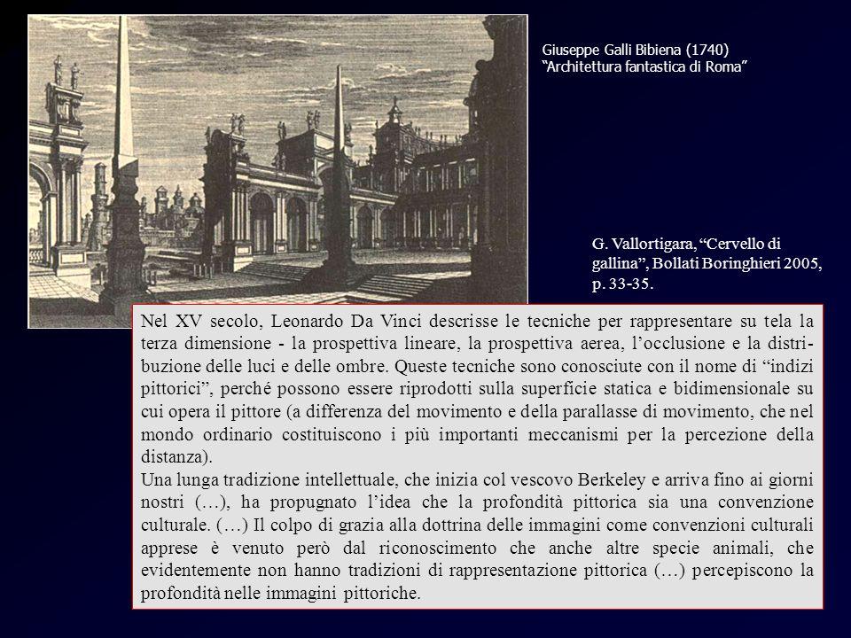 Bibiena Giuseppe Galli Bibiena (1740) Architettura fantastica di Roma Nel XV secolo, Leonardo Da Vinci descrisse le tecniche per rappresentare su tela la terza dimensione - la prospettiva lineare, la prospettiva aerea, locclusione e la distri- buzione delle luci e delle ombre.
