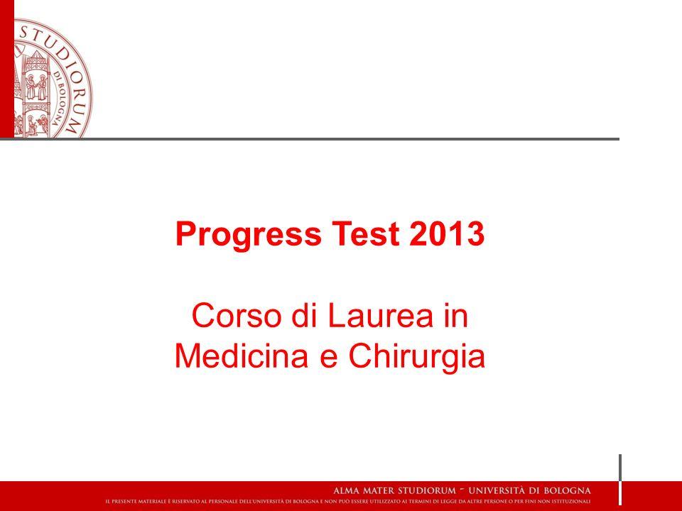 Progress Test 2013 Corso di Laurea in Medicina e Chirurgia