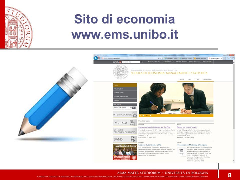 Sito di economia www.ems.unibo.it 8