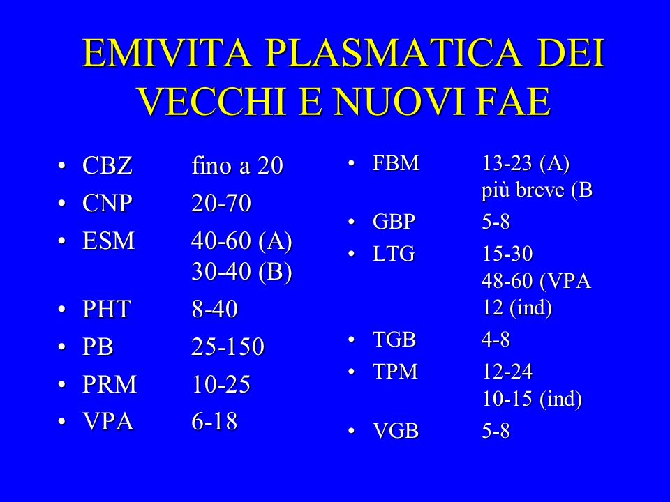 EMIVITA PLASMATICA DEI VECCHI E NUOVI FAE CBZfino a 20CBZfino a 20 CNP20-70CNP20-70 ESM40-60 (A) 30-40 (B)ESM40-60 (A) 30-40 (B) PHT8-40PHT8-40 PB25-1