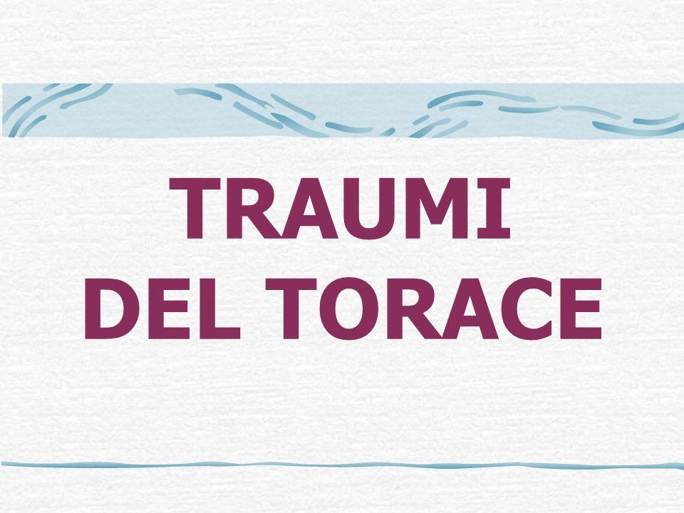 …RX TORACE TESSUTI MOLLI Cercare enfisema sottocutaneo TUBI E LINEE Corretto posizionamento di tubo endotracheale, tubi toracici, linee venose centrali, SNG.