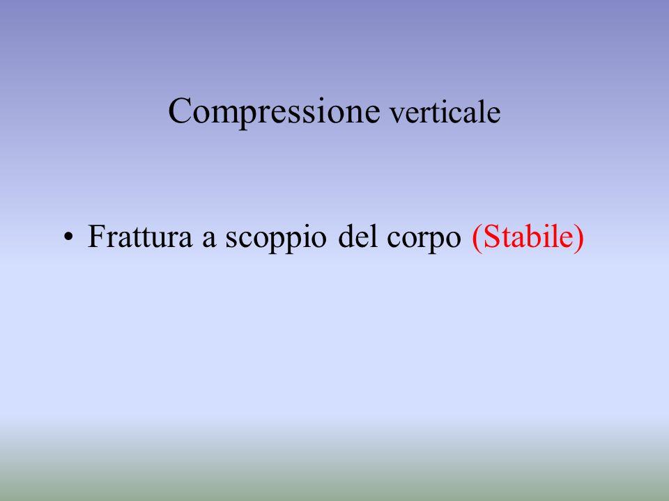 Compressione verticale Frattura a scoppio del corpo (Stabile)