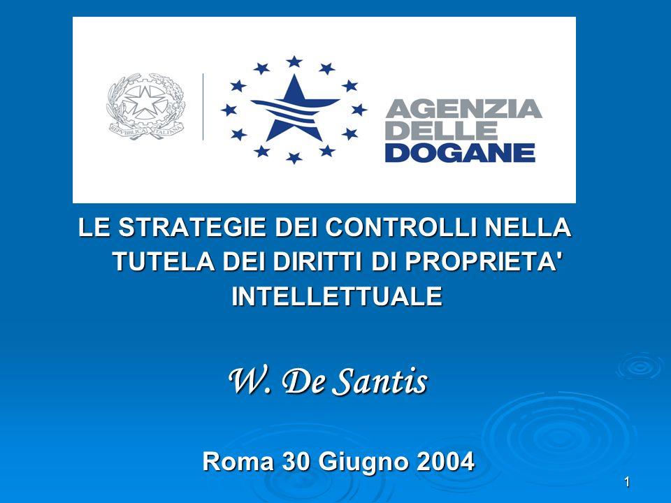 12 I laboratori delle Dogane supporteranno la lotta alla contraffazione acquisendo le necessarie attrezzature analitiche e scientifiche per garantire un elevato livello di specializzazione ed assicurare una idonea azione di contrasto.