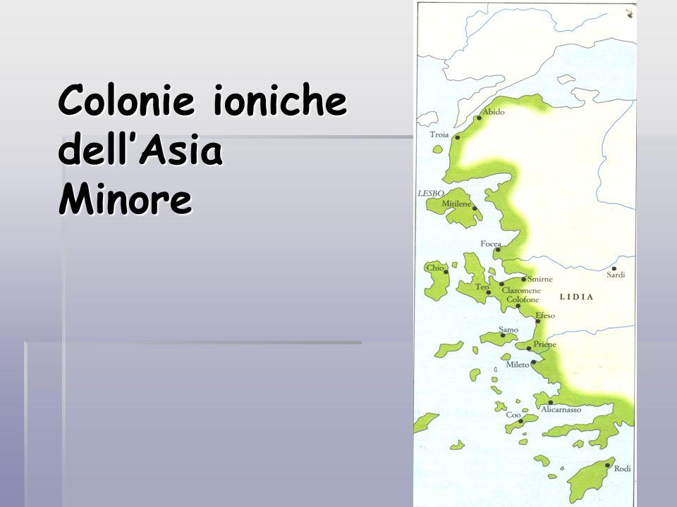 Colonie ioniche dellAsia Minore