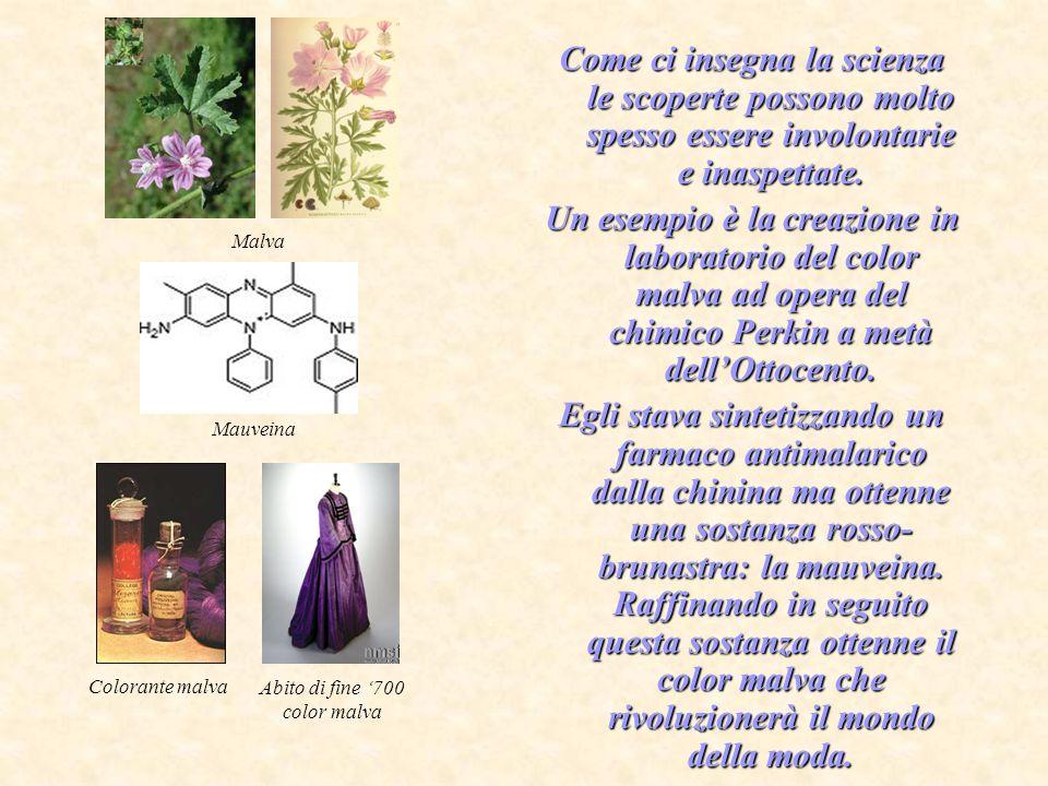 Perkin utilizzò come intermedio della sintesi della mauveina lanilina, un amminobenzene oggi universalmente conosciuto come un cancerogeno per luomo.