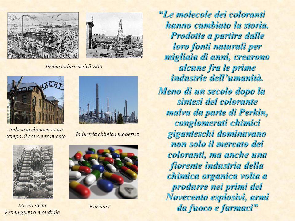 Le molecole dei coloranti hanno cambiato la storia. Prodotte a partire dalle loro fonti naturali per migliaia di anni, crearono alcune fra le prime in