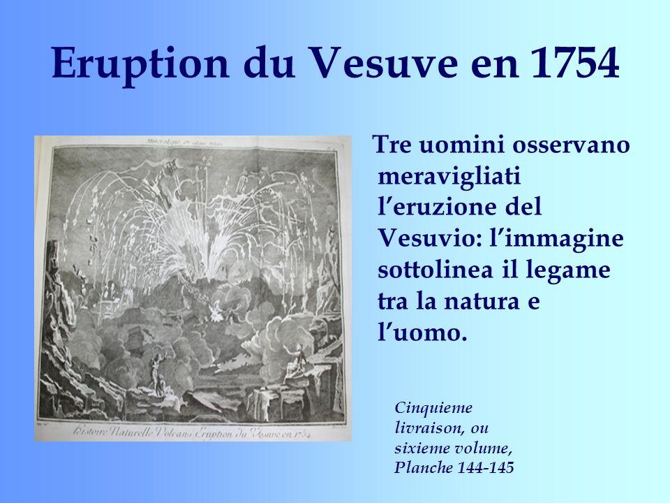 Eruption du Vesuve en 1754 Tre uomini osservano meravigliati leruzione del Vesuvio: limmagine sottolinea il legame tra la natura e luomo. Cinquieme li