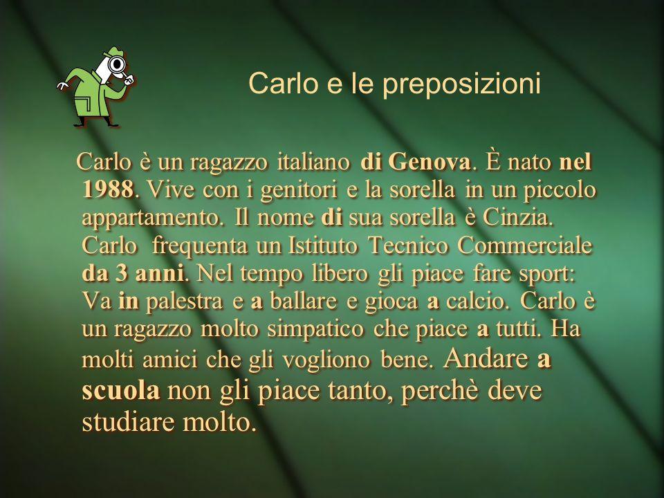 Carlo è un ragazzo italiano di Genova. È nato nel 1988.