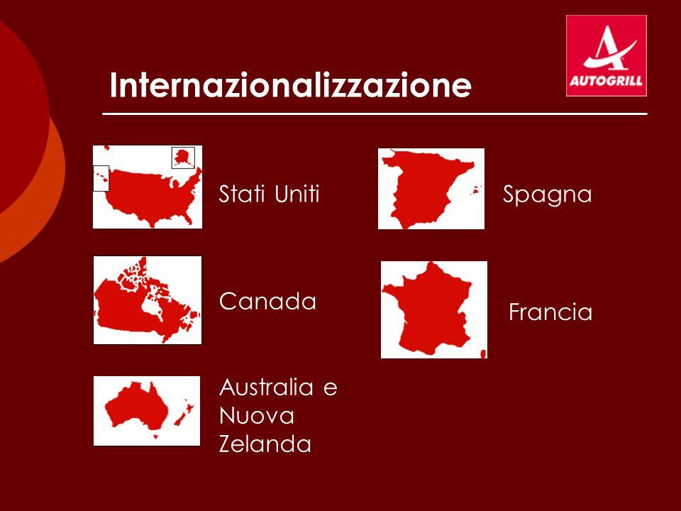 Internazionalizzazione Stati Uniti Canada Australia e Nuova Zelanda Spagna Francia