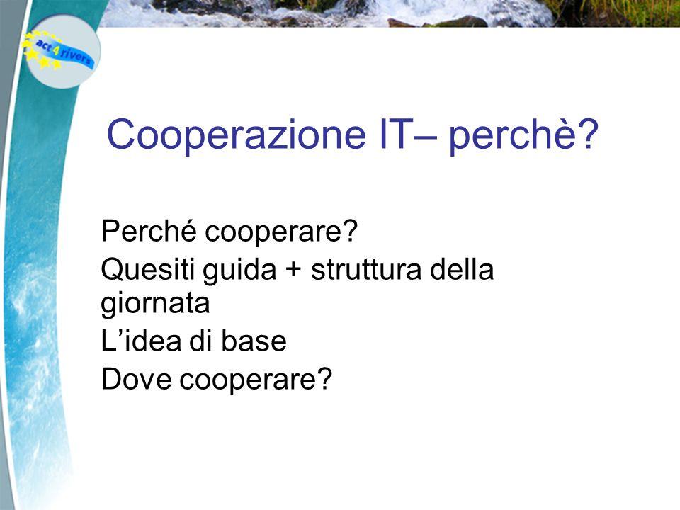 Cooperazione IT– perchè. Perché cooperare.