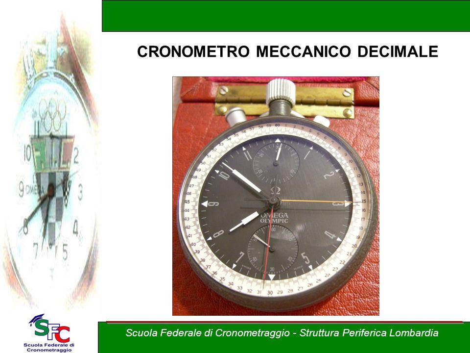 Scuola Federale di Cronometraggio - Struttura Periferica Lombardia CRONOMETRO MECCANICO DECIMALE