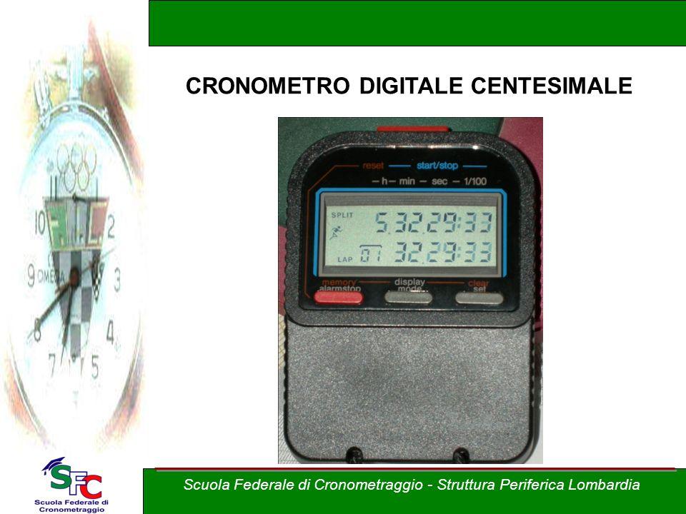 Scuola Federale di Cronometraggio - Struttura Periferica Lombardia CRONOMETRO DIGITALE CENTESIMALE