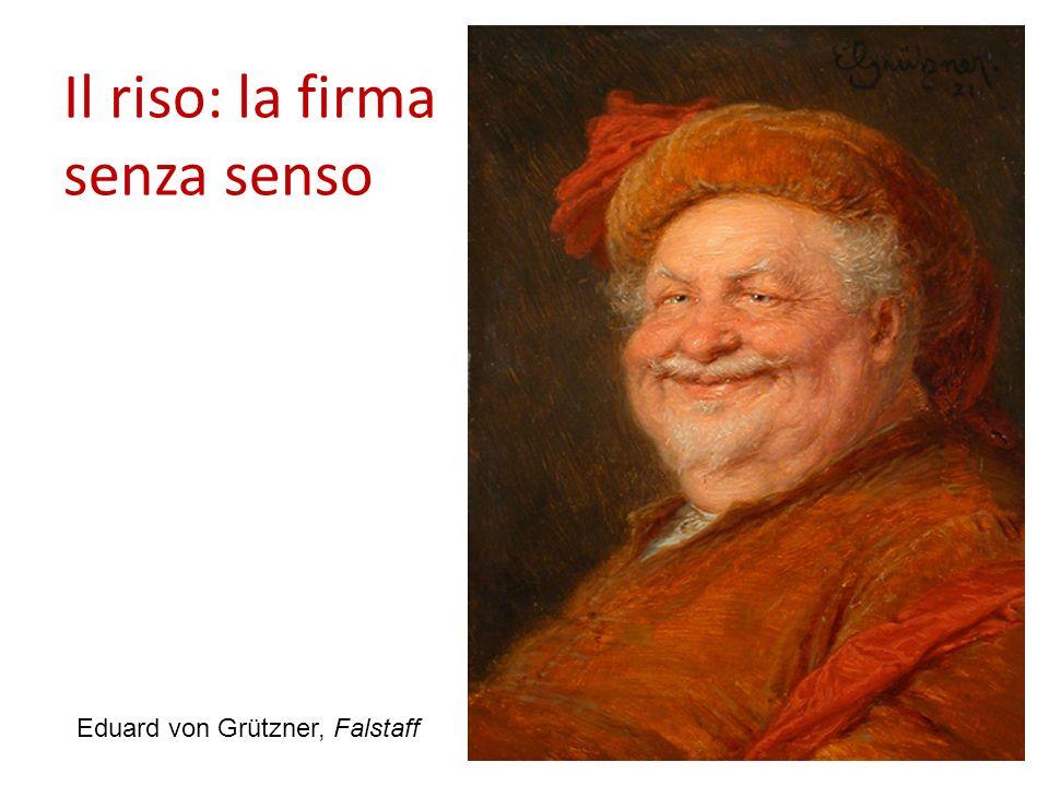 Il riso: la firma senza senso 20 Eduard von Grützner, Falstaff