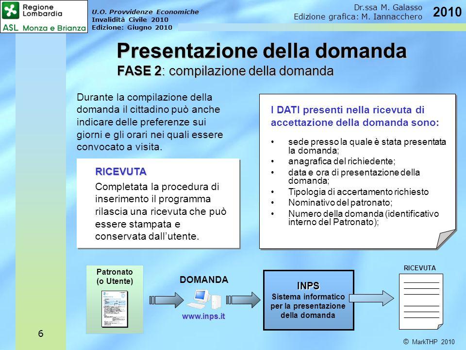 U.O.Provvidenze Economiche Invalidità Civile 2010 Edizione: Giugno 2010 Dr.ssa M.