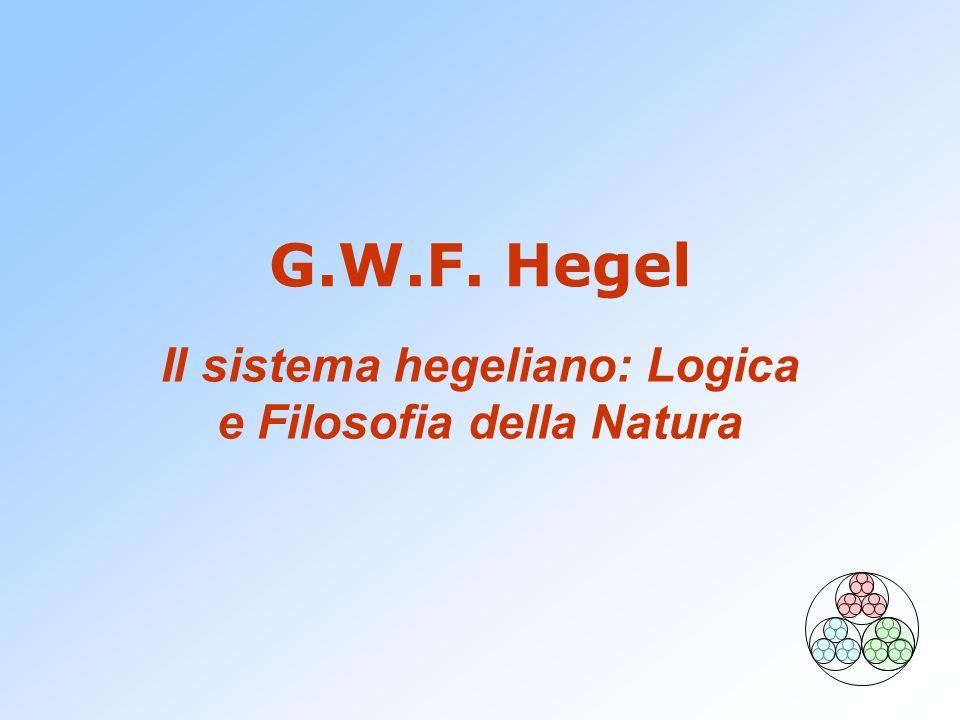 G.W.F. Hegel Il sistema hegeliano: Logica e Filosofia della Natura