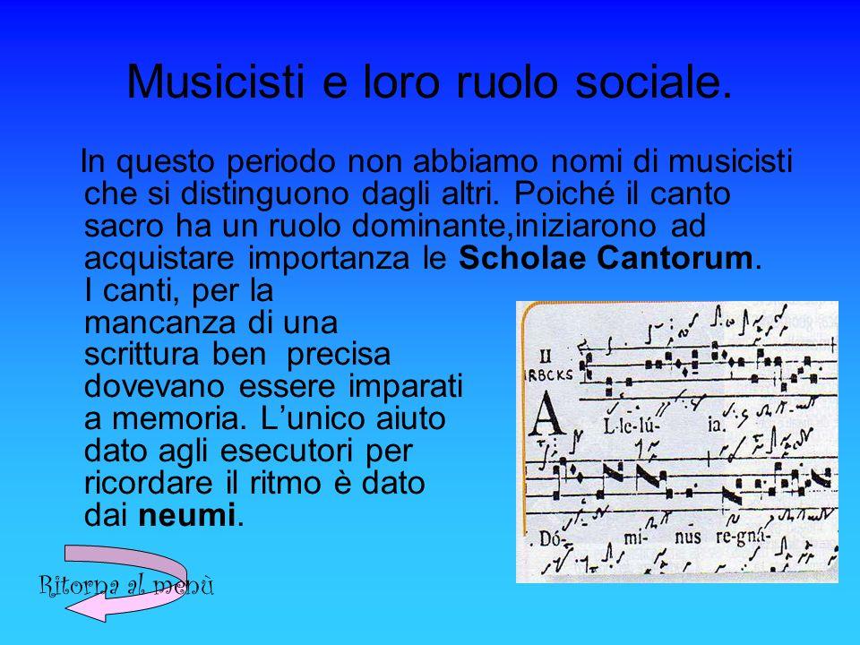 Musicisti e loro ruolo sociale.