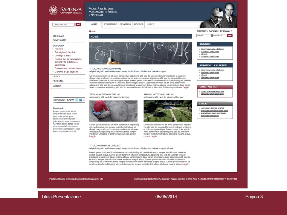 05/05/2014Titolo PresentazionePagina 3