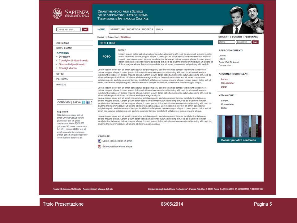 05/05/2014Titolo PresentazionePagina 5