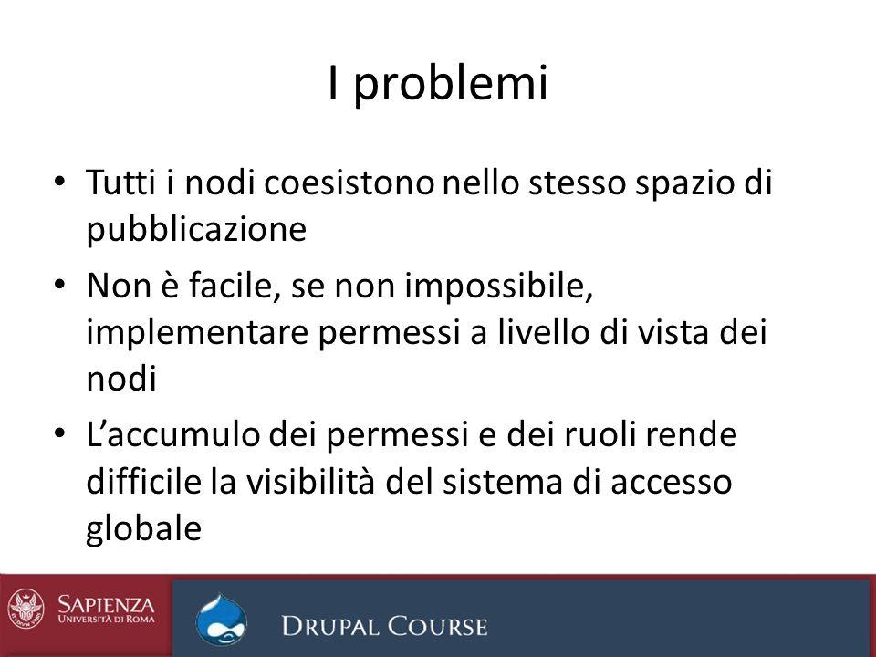 Soluzione: siti dedicati Sito Drupal istituzionale Gestione bandi Gestione verbali Gestione procedure amministr.