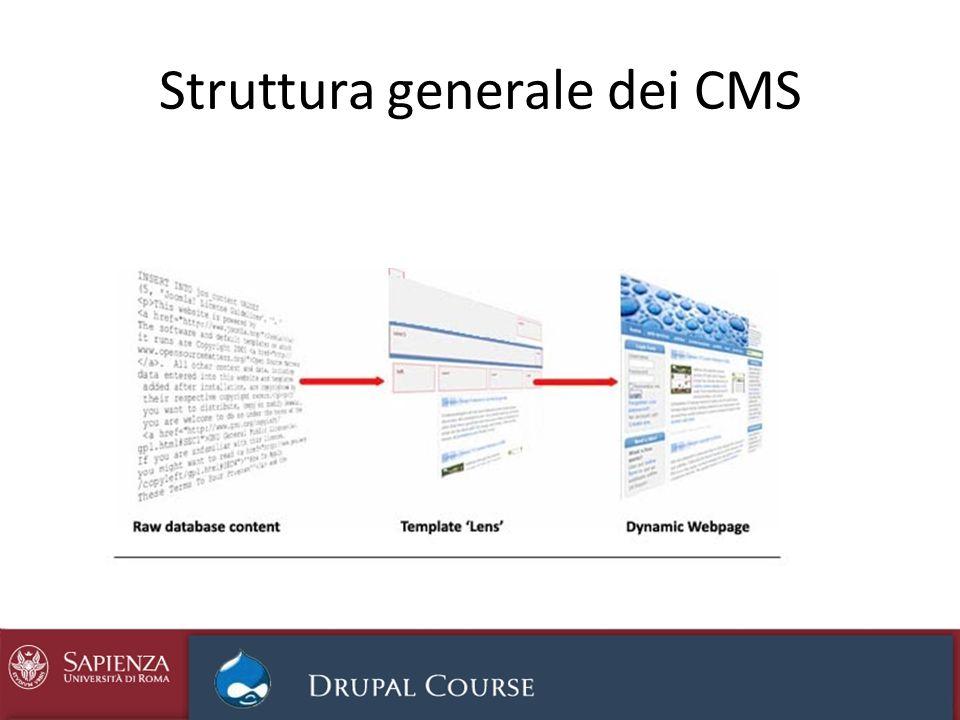Struttura generale dei CMS