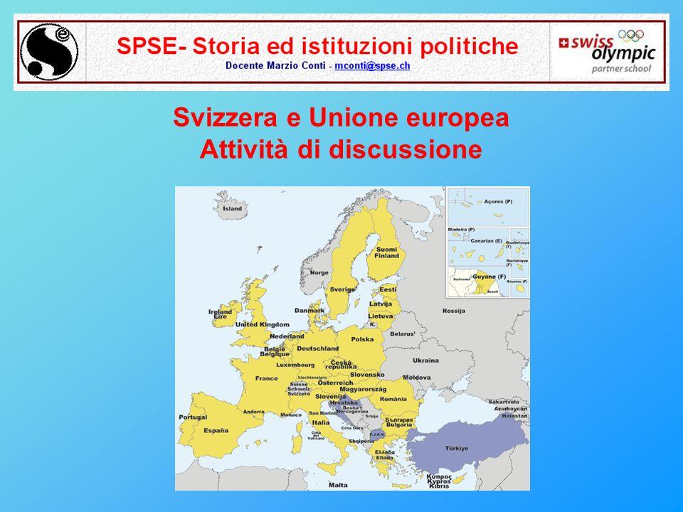 Svizzera e Unione europea Attività di discussione