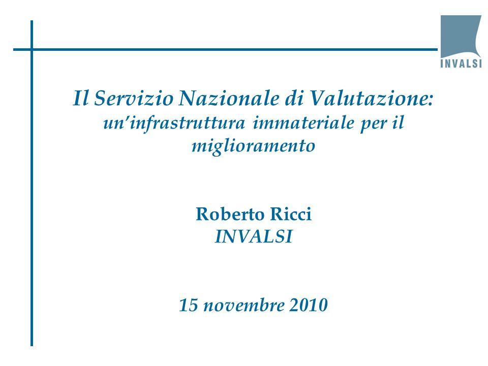 Roberto Ricci – 15 novembre 2010 I risultati delle prove INVALSI (italiano)