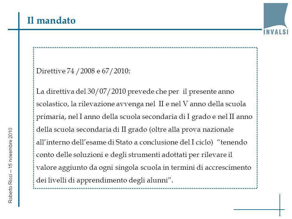Roberto Ricci – 15 novembre 2010 I dati di scuola (6)