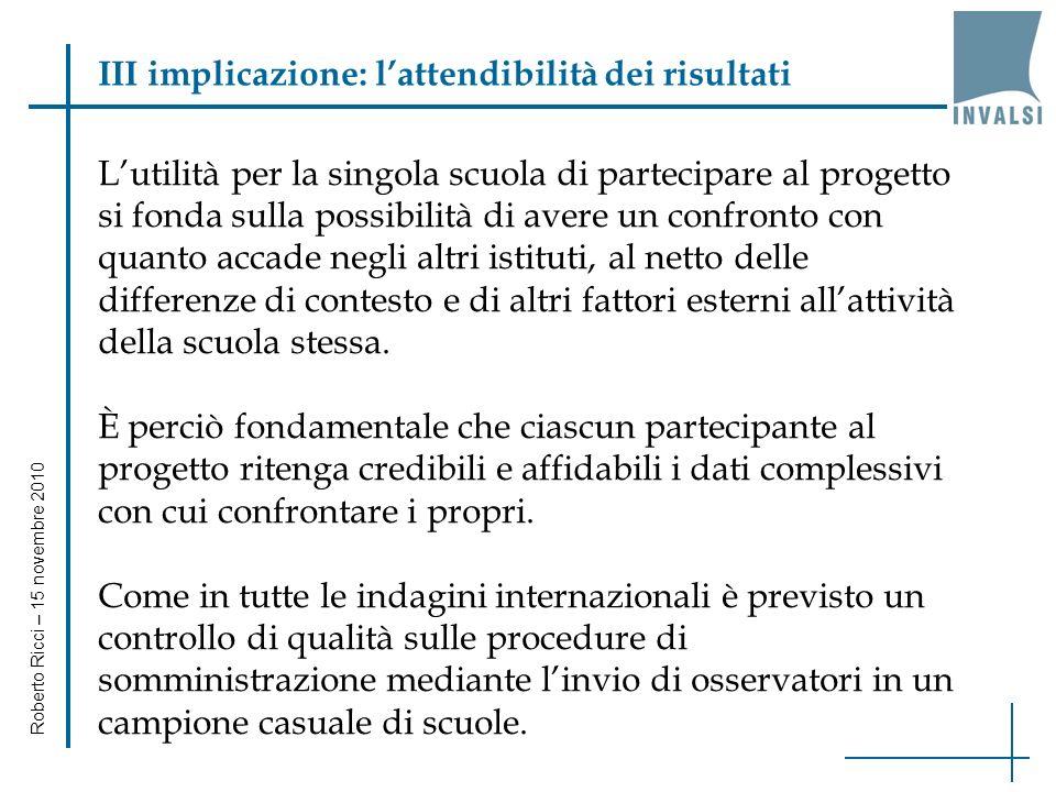 Roberto Ricci – 15 novembre 2010 Confronto domande/studenti