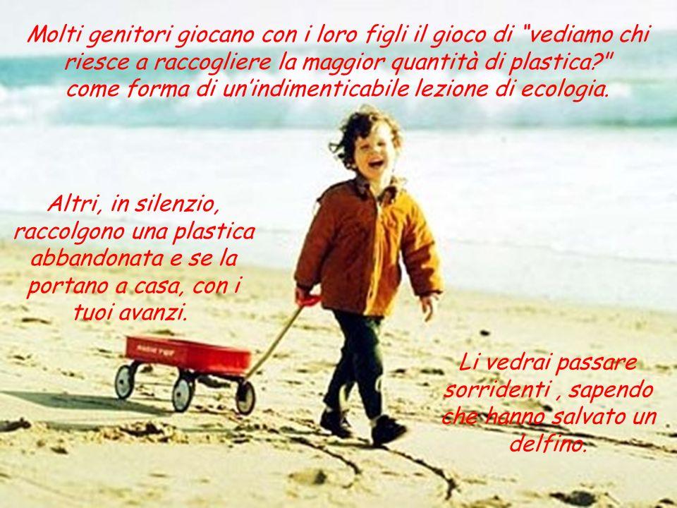 Molti genitori giocano con i loro figli il gioco di vediamo chi riesce a raccogliere la maggior quantità di plastica? come forma di unindimenticabile lezione di ecologia.