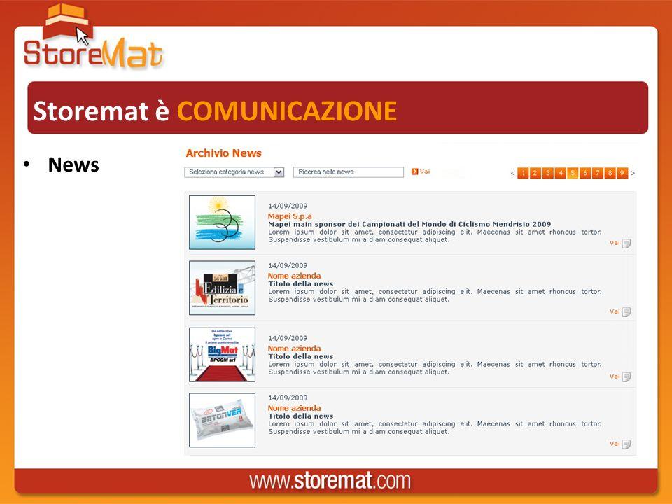 Storemat è COMUNICAZIONE News