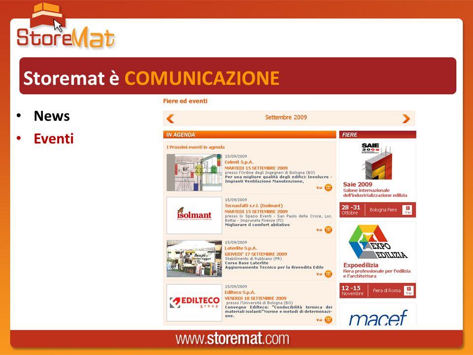Storemat è COMUNICAZIONE News Eventi