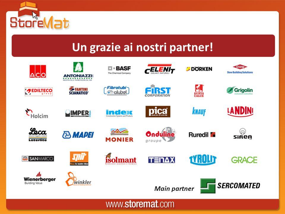 Un grazie ai nostri partner! Main partner