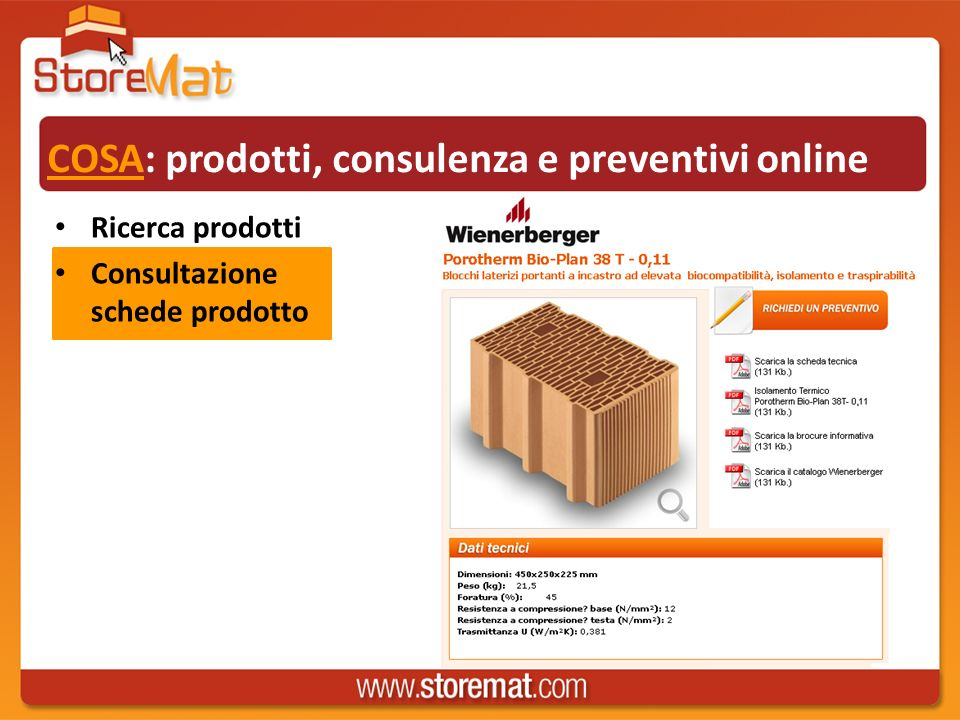 COSA: prodotti, consulenza e preventivi online Ricerca prodotti Consultazione schede prodotto