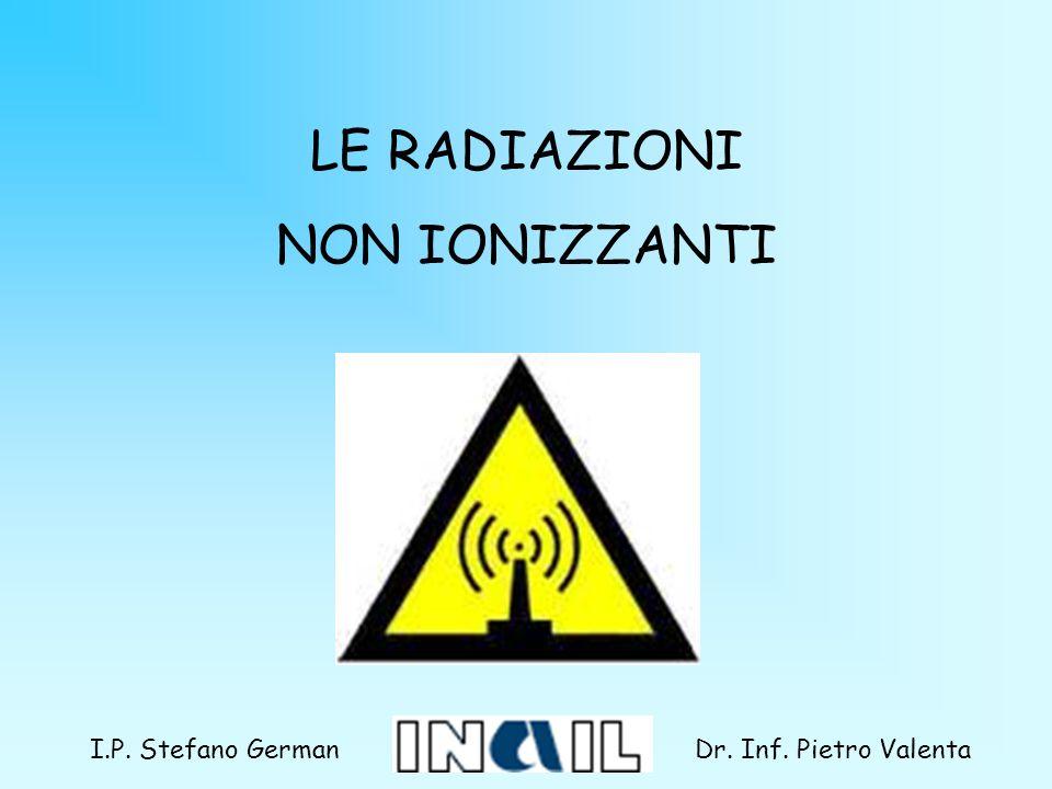 LE RADIAZIONI NON IONIZZANTI Dr. Inf. Pietro ValentaI.P. Stefano German