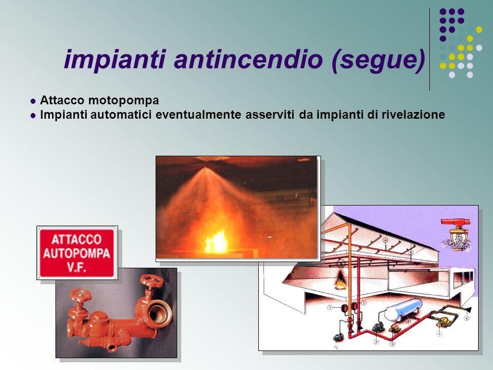 ATTREZZATURE ANTINCENDIO Estintori portatili e carrellati in funzione della classe di incendio e del livello di rischio del luogo di lavoro.
