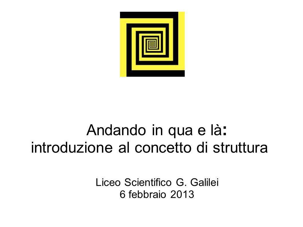 Andando in qua e là : introduzione al concetto di struttura Liceo Scientifico G.