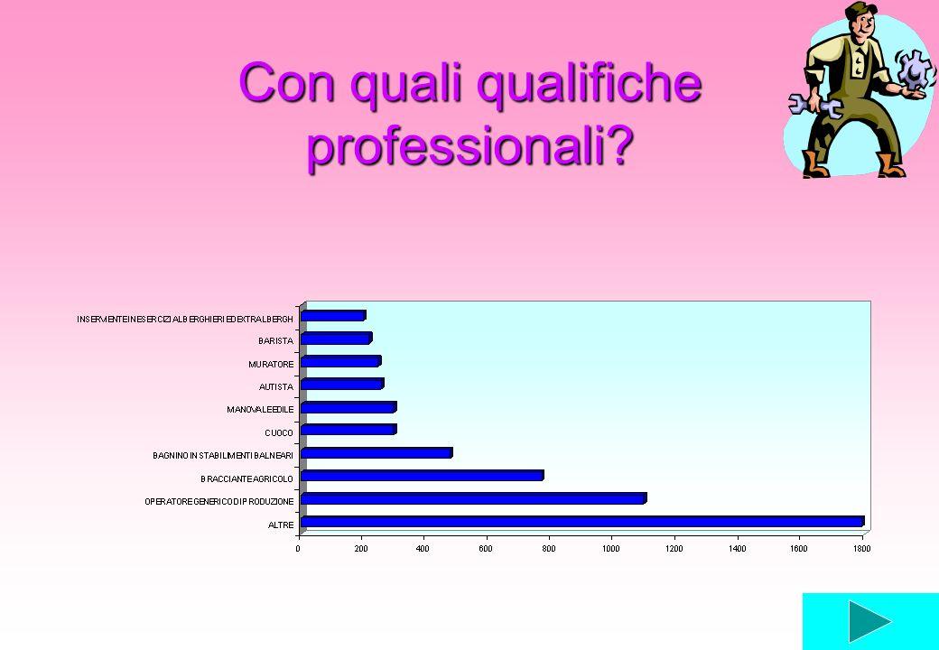 Con quali qualifiche professionali?