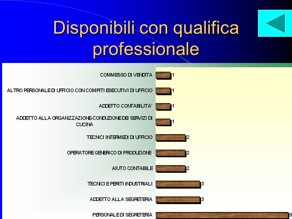Disponibili con qualifica professionale