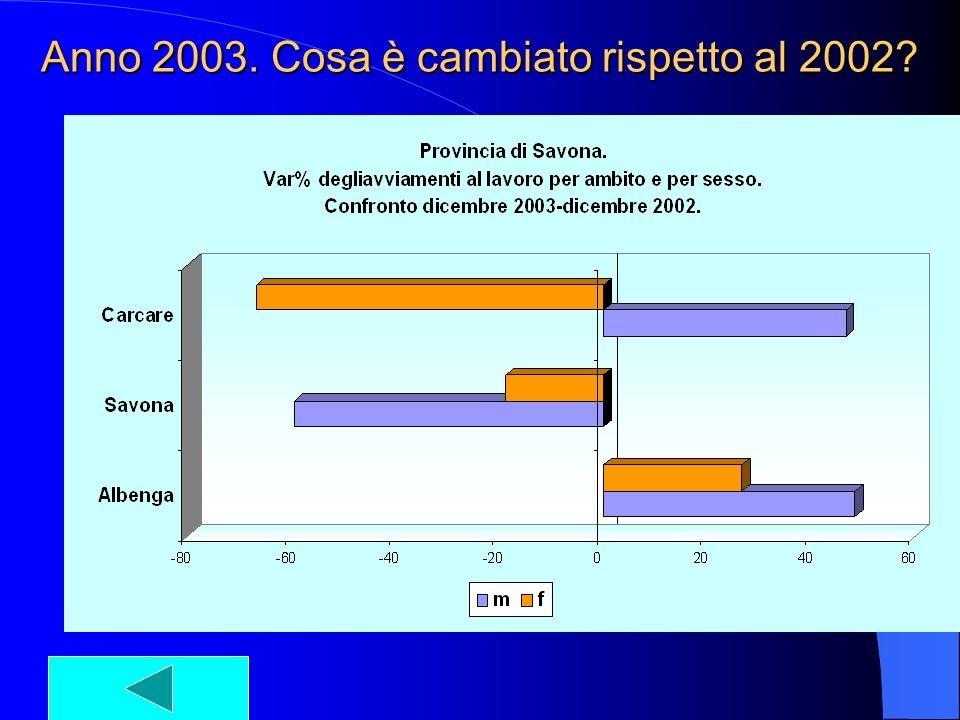 Anno 2003. Cosa è cambiato rispetto al 2002?