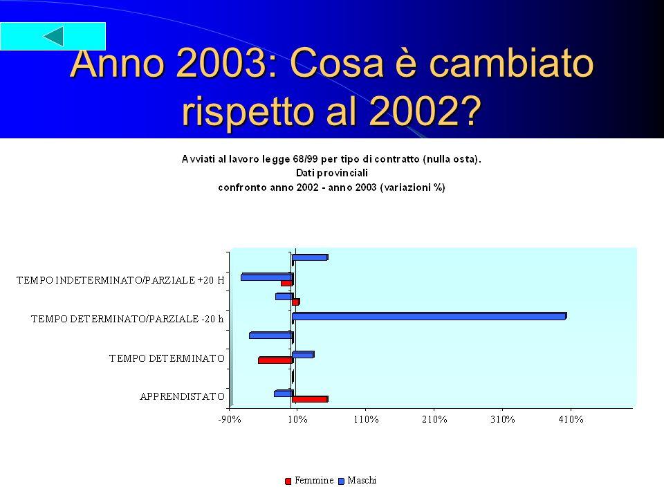Anno 2003: Cosa è cambiato rispetto al 2002?
